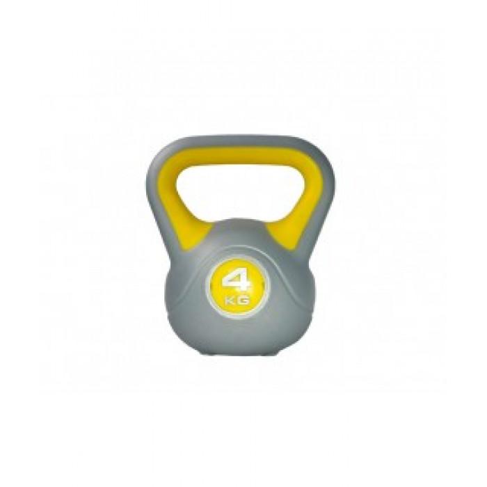 Гиря пластиковая LiveUp Plastic Kettler Bell 4 кг (LS2047-4) насыпная